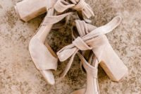 21 gorgeous boho suede block heels with bows will accent your bridal look subtly and stylishly