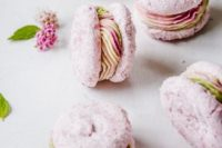 23 pretty pink gluten free vegan macarons with vegan buttercream frosting are a fantastic idea for a wedding
