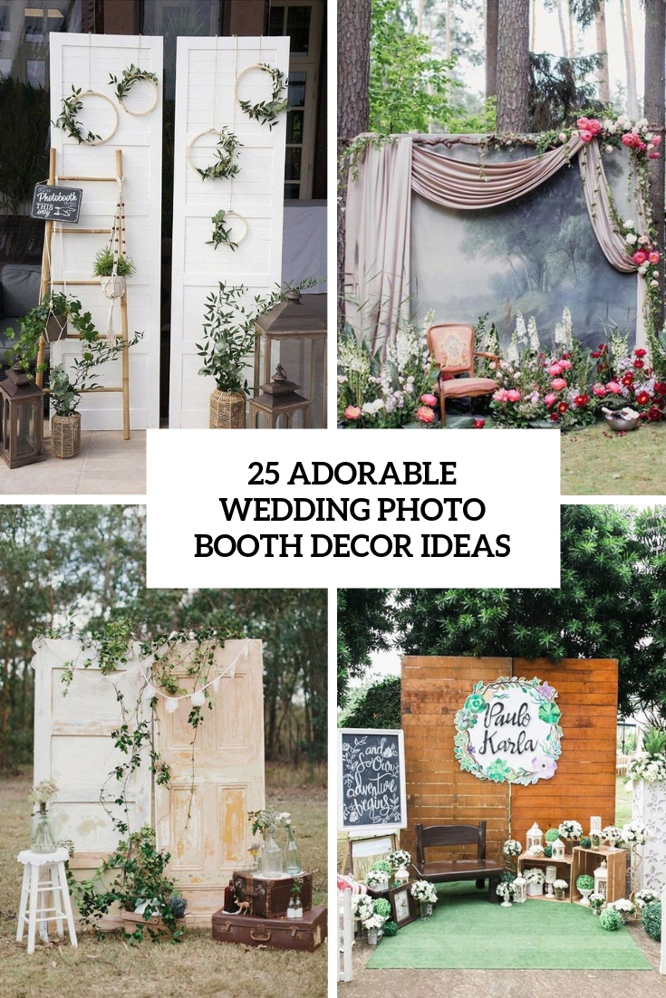 adorable wedding photo booth decor ideas cover