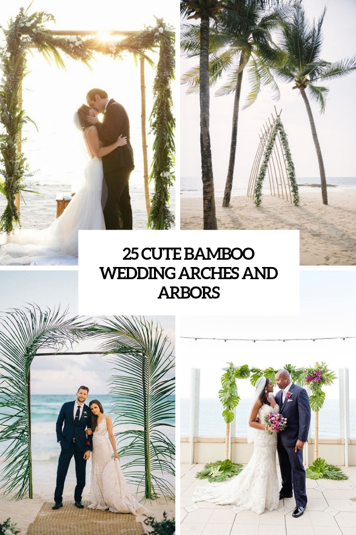 cute bamboo wedding arches and arbors cover