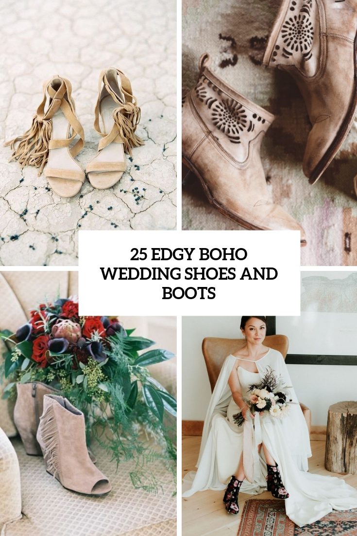25 Edgy Boho Wedding Shoes And Boots Weddingomania