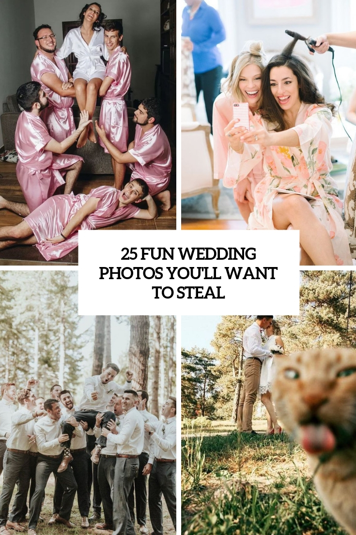 How To Make Wedding Photos – 25 Fun Ideas