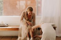25 trendy silver boots are an amazing idea to rock at a boho desert wedding, they will add a shiny touch