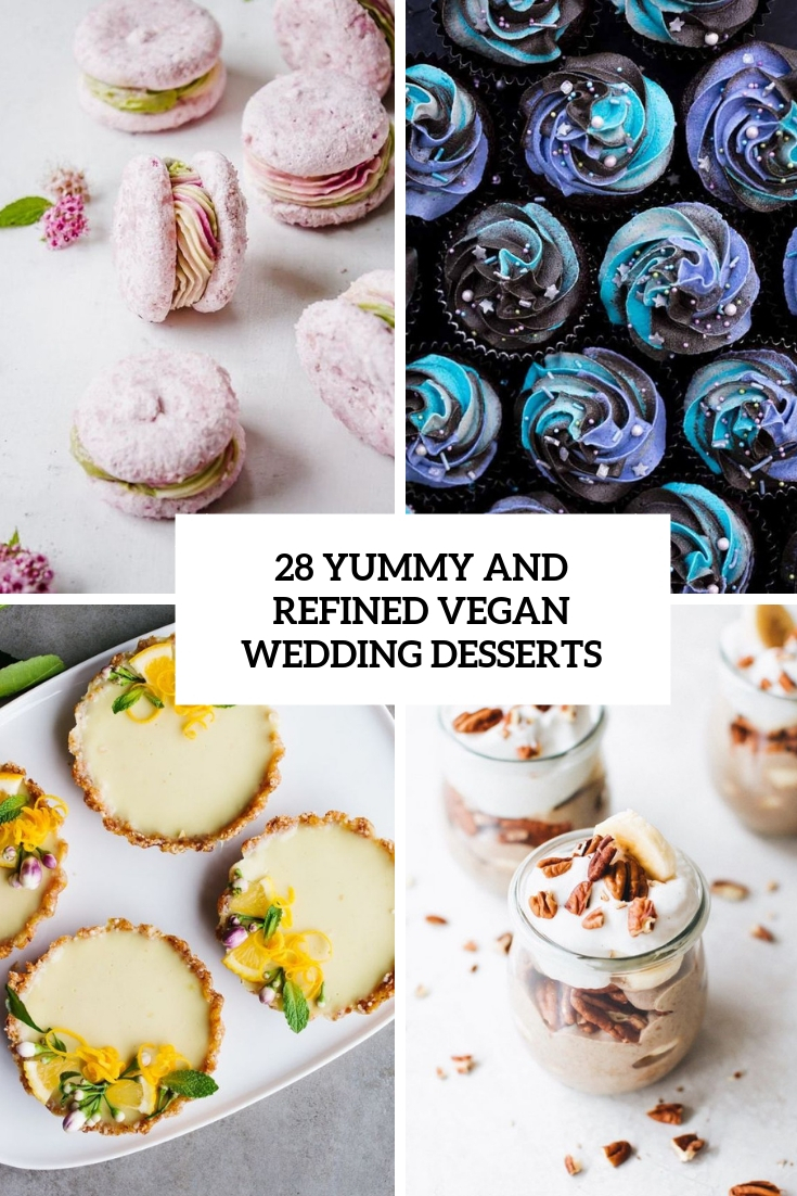 yummy and refined vegan wedding desserts cover