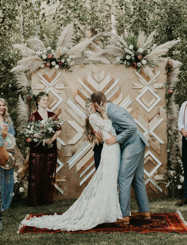 This couple went for a gorgeous boho Scandinavian wedding, which was a family affair
