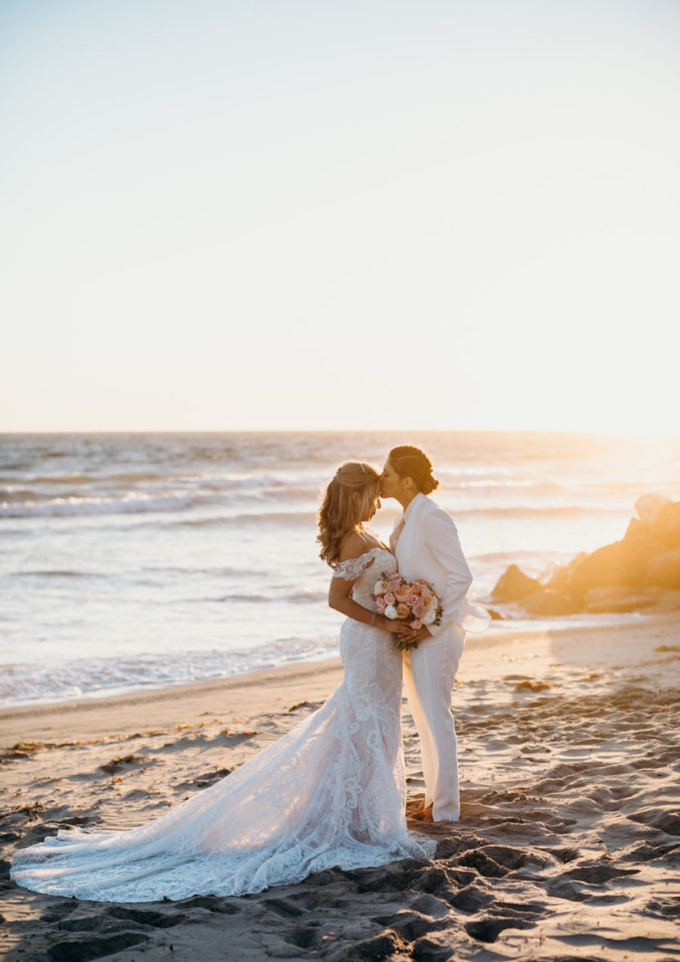 Oceanfront Malibu Wedding With A Glam Feel