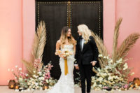 01 This wedding shoot was done with Moroccan desert meets modern theme and touches of pink and bold black