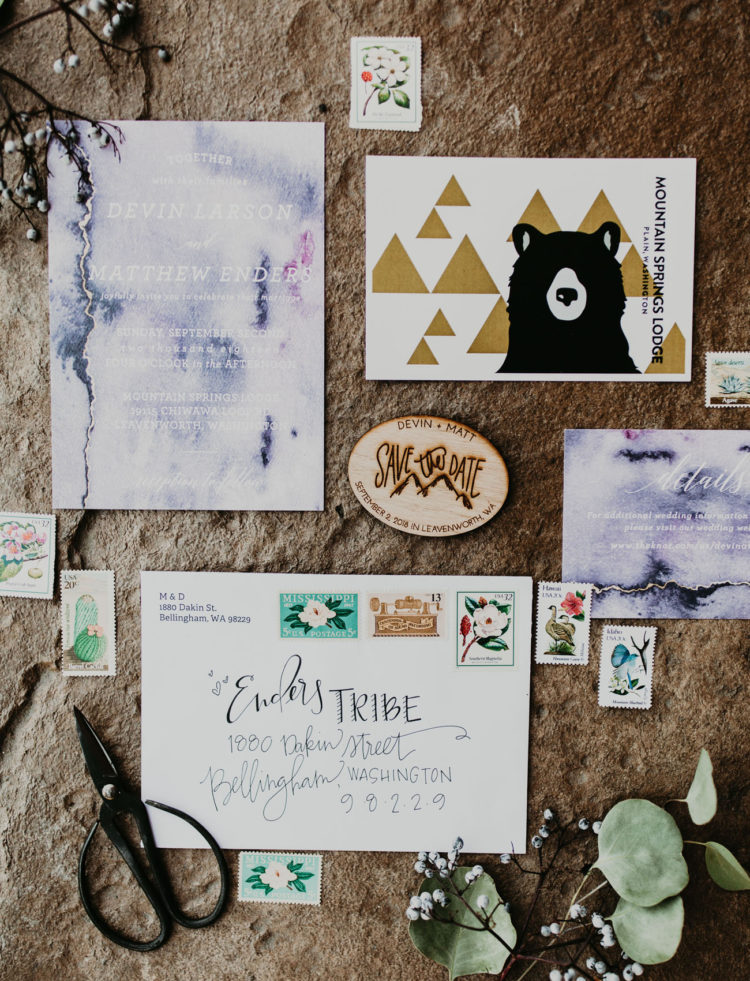 The wedding stationery was done keeping the place in mind, with boho vibes and inspired by wandering