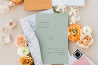02 The wedding stationery was done minimal but in bold colors