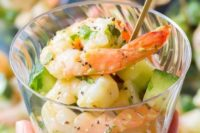 02 chilled garlic lime roasted shrimp salad is a very refreshing and tasty starter idea for a spring wedding