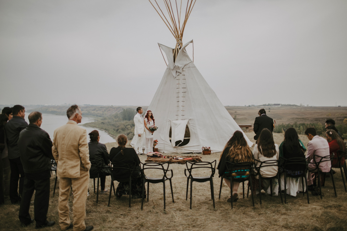 The ceremony was done according to the traditions of the tribe