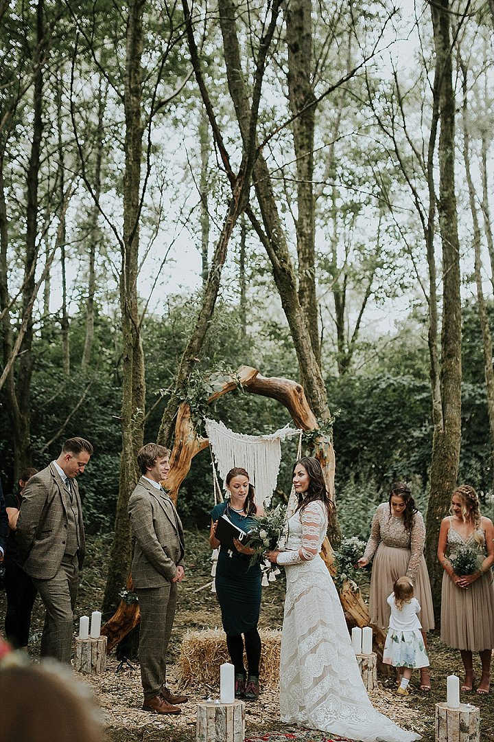 a macrame backdrop is a must for a boho wedding