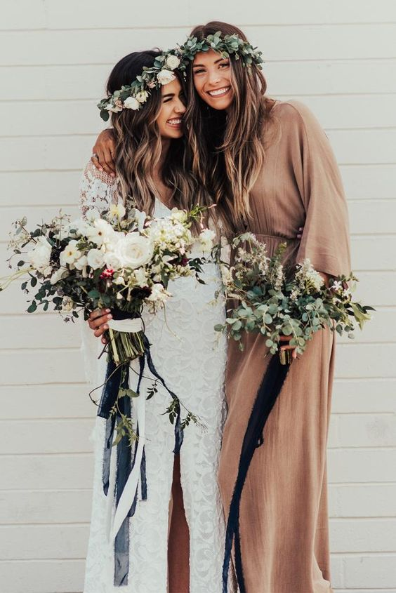 boho made of honor outfit