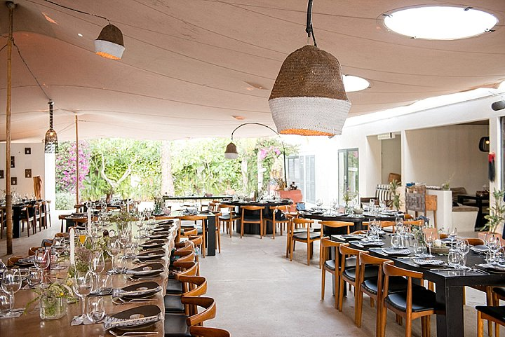 The wedding reception took place in a stunning restaurant