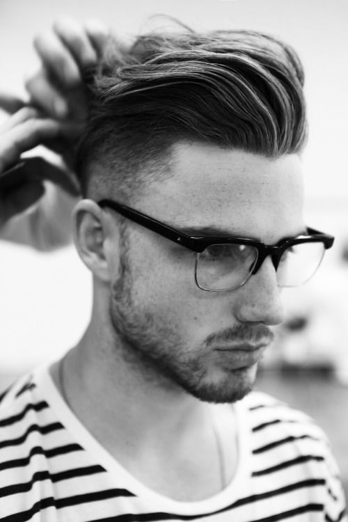a chic textural pompadour with fading sides is right what you need for a cool look on the big day