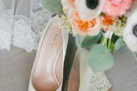 08 ivory wedding wedges with sparkling and shiny heels and peep toes for a touch of glam in your look