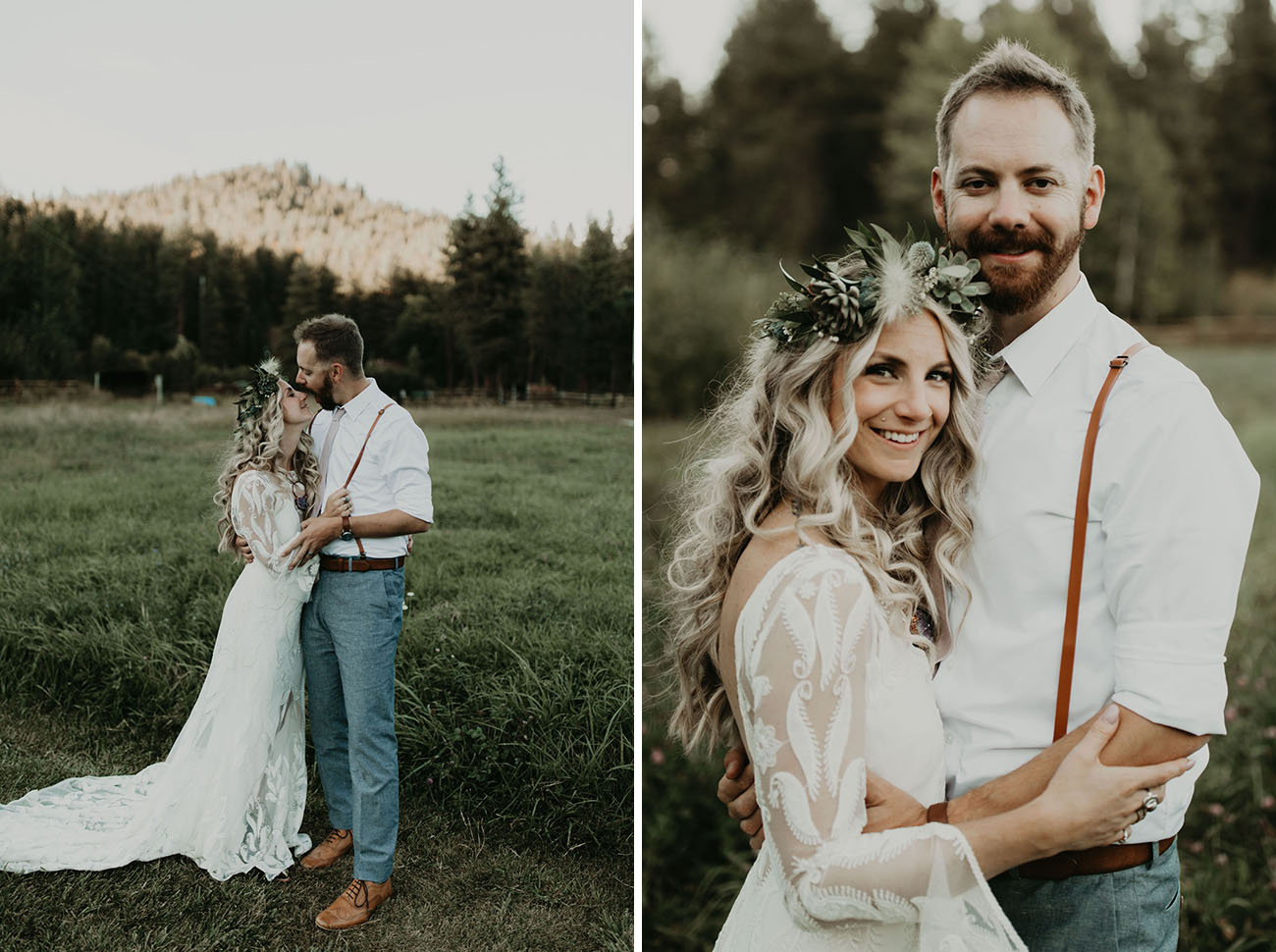 What a beautiful couple and what a relaxed wedding outdoors
