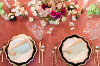 11 The wedding centerpiece was bright and textural, and we all love tasseled stationery