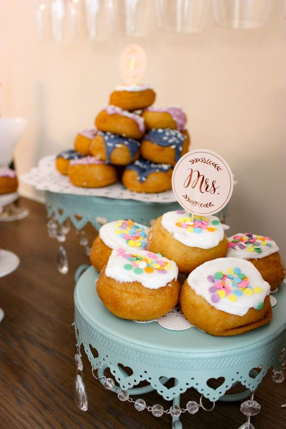 make a dessert table with various sweets and yummies that you like and mark them with some pretty toppers