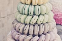 21 skip heavy desserts and offer macarons with various delicious and refreshing flavors, you may also offer a macaron tower instead of a wedding cake