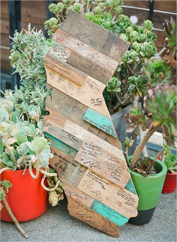 a simple and rustic wedding wood guest book in different colors can be used for indoor or outdoor decor after the wedding