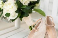 23 nude strappy wedges with lace heels and ankle strap are a classic and stylish option