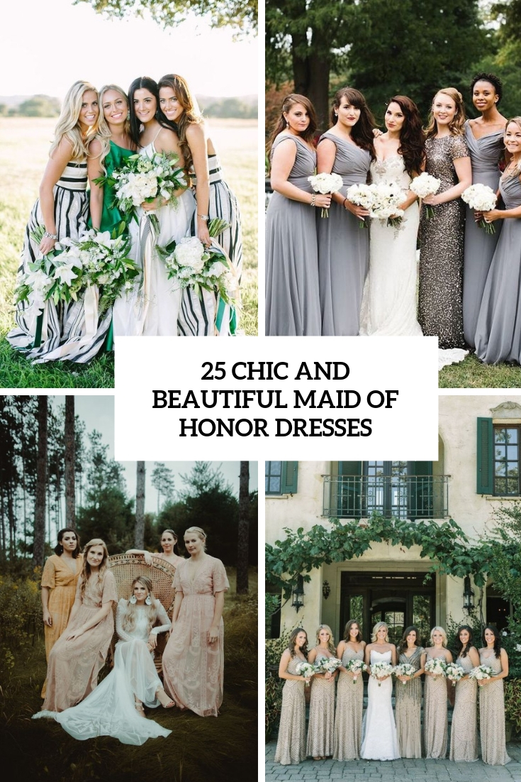 chic and beautiful maid of honor dresses cover