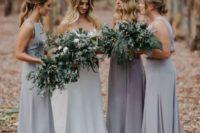gray bridesmaids outfits