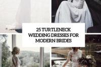25 turtleneck wedding dresses for modern brides cover