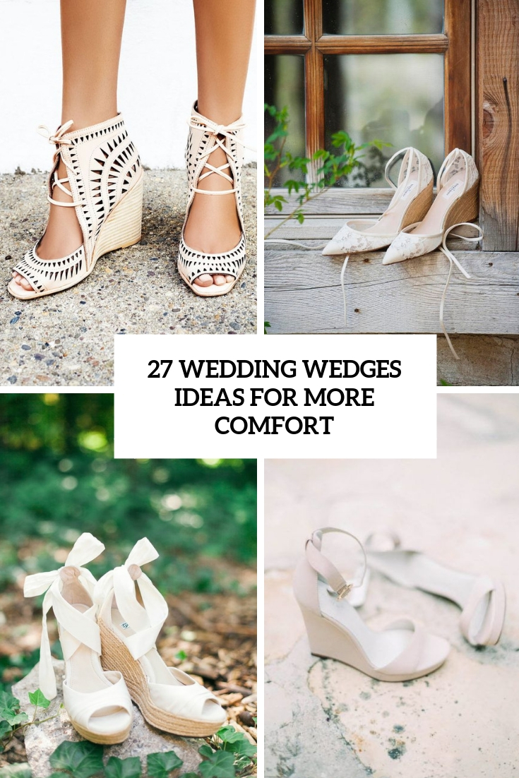 27 Wedding Wedges Ideas For More Comfort