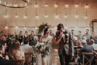 01 This gorgeous industrial wedding was filled with unique and personalized touches and featured cool decor