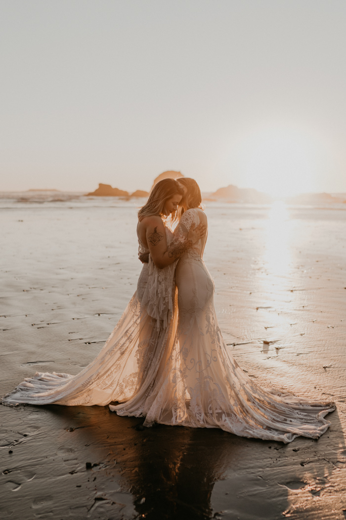 Romantic And Chic Boho Beach Vow Renewal