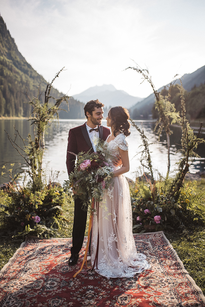 This wedding shoot was a boho one, it took place in the French Alps