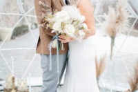 01 This winter wedding shoot was inspired by snow storms, igloos and pastels with a slight boho feel