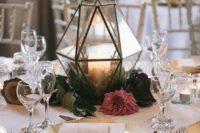 03 a terrarium is another cool option to create a centerpiece for your wedding, bring some from home