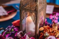 04 some Moroccan lanterns can be used for creating bold and chic wedding centerpieces