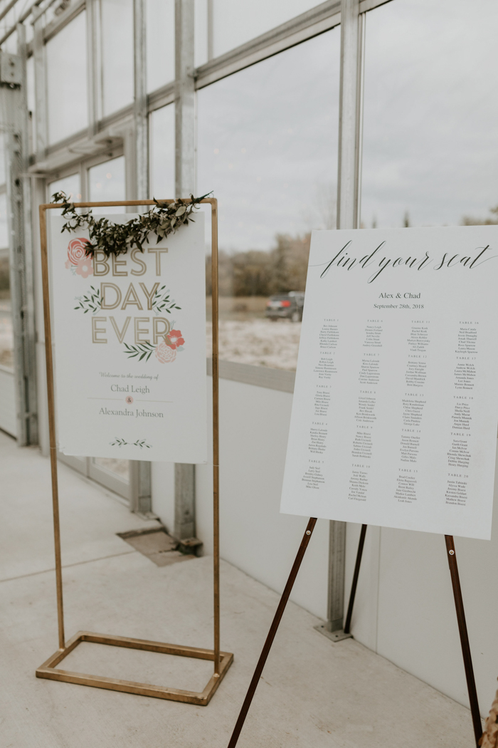 The reception decor and signage were minimal