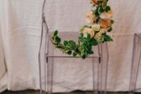 10 ghost chairs used for the ceremony space can eb also used for reception space