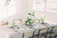 16 such a natural greenery, branch and white bloom wedding installation is a great idea for a garden feel indoors