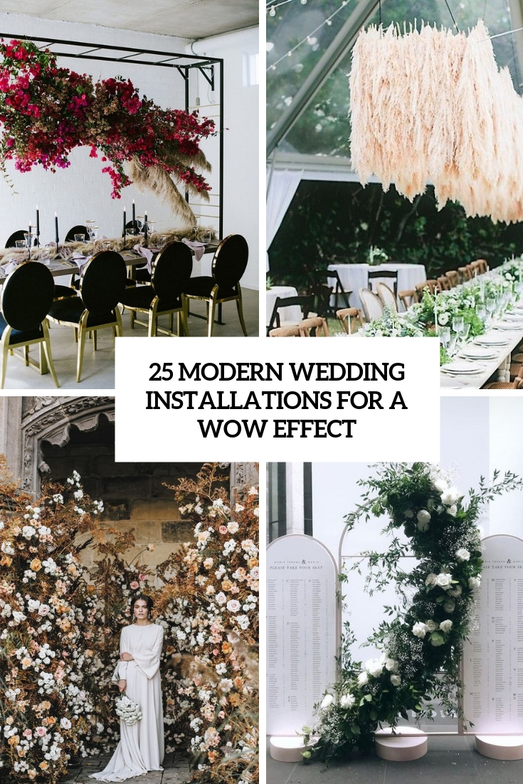 modern wedding installations for a wow effect cover