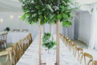 greenery table centerpiece