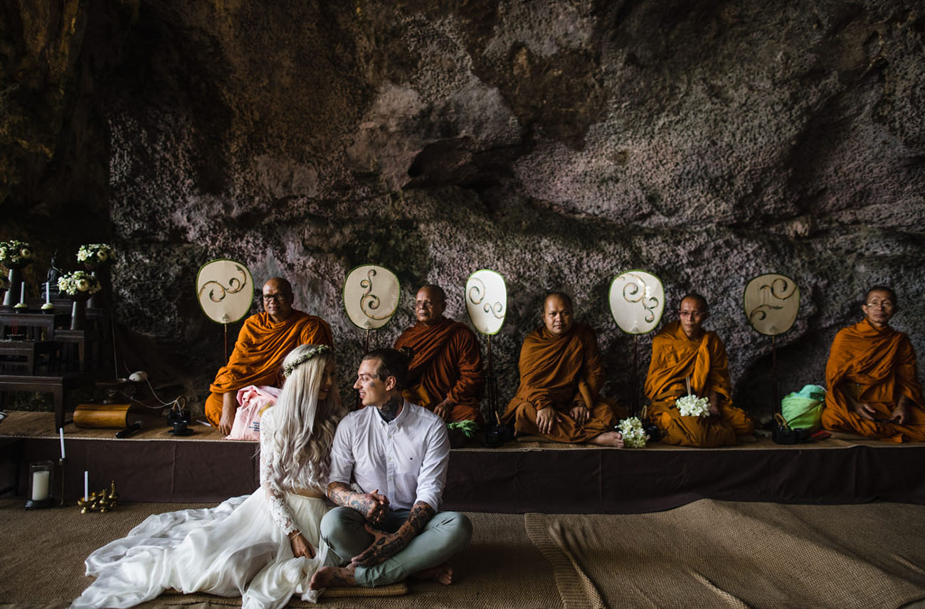 This couple chose Thailand as their wedding location and opted for two ceremonies   an Eastern and a Western one