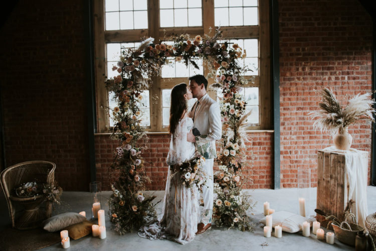 Luxury Boho Wedding Shoot With Dried Flowers