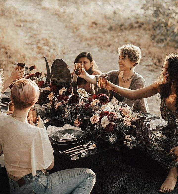 This moody boho bridal shower shoot is all about women, their strength and goddesses inside us