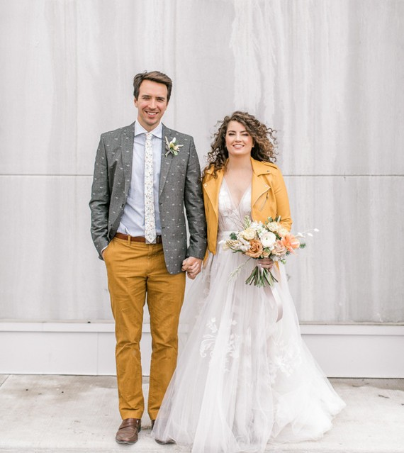 Unusual Marigold And Grey Wedding Shoot