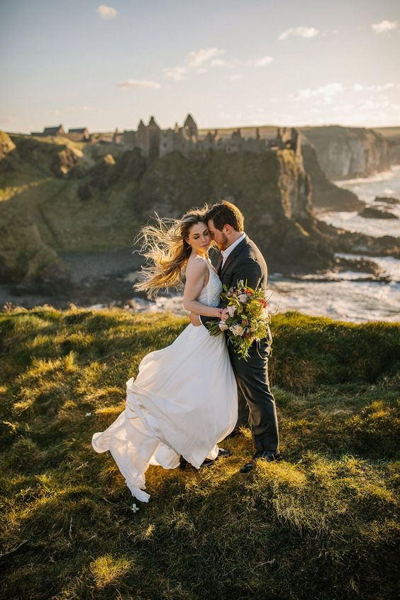 nature of Ireland is magnificent and many couples choose it cause of cliffs, the sea and lots of greenery around