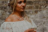 04 She got a blush silk sash and a burgundy and sage floral crown