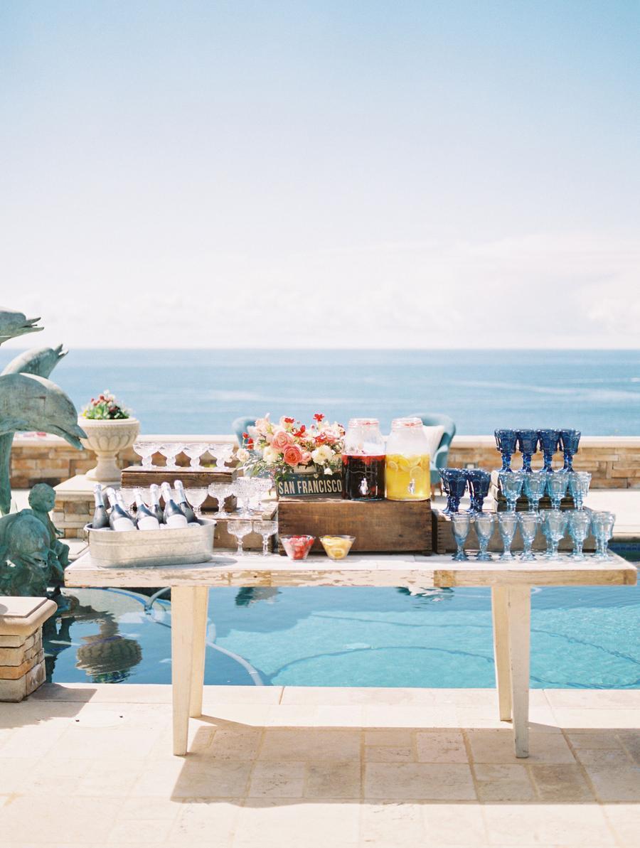 a drink station for a bridal shower