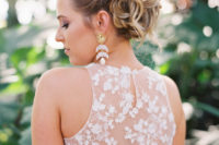 an awesome wavy updo for a bride