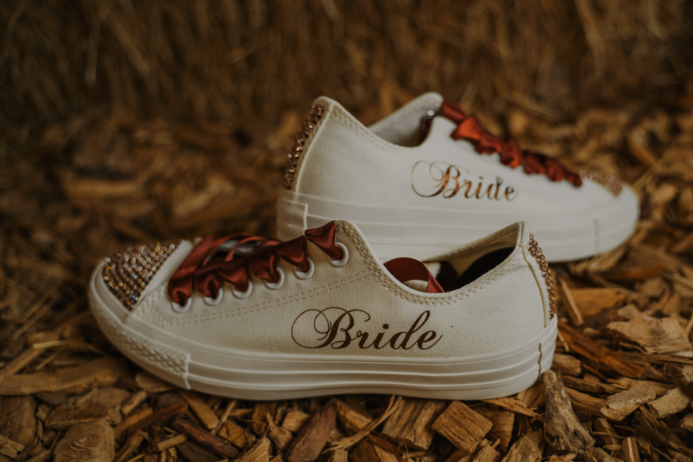 personalized bridal sneakers